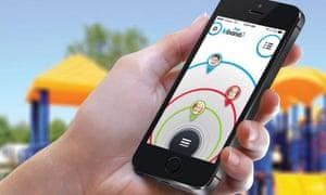 The kiband app on a cellphone.