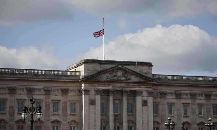Flag at Buckingham Palace at half mast