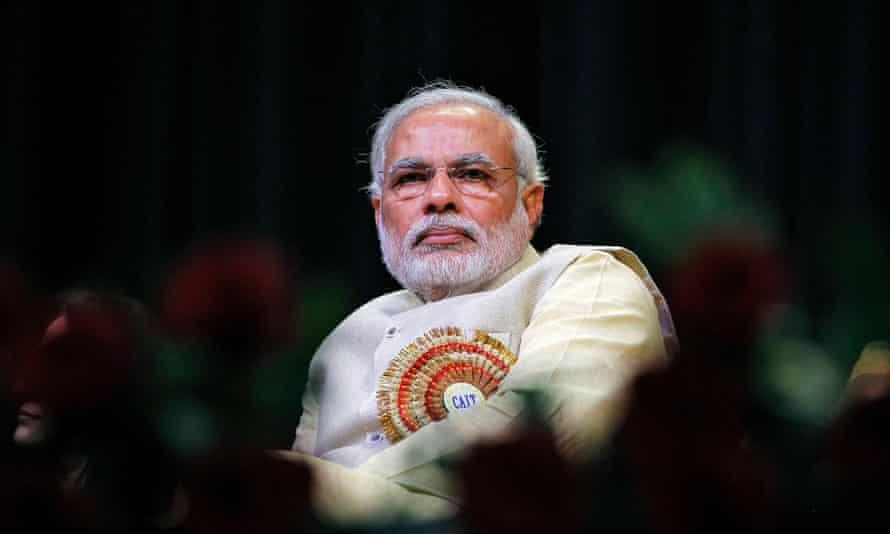 Indian Hindu nationalist prime minister Narendra Modi.