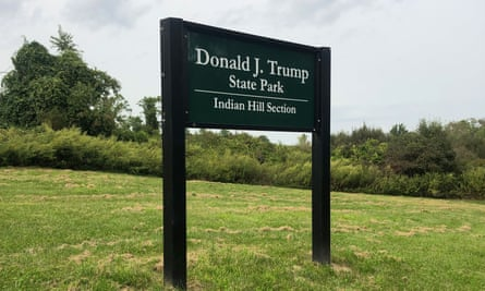 The entrance of the Donald Trump state park in New York.