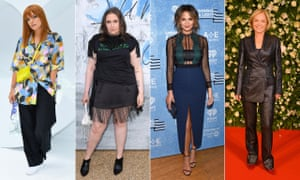 From left, Lily Allen, Lena Dunham, Chrissy Teigen and Mariella Frostrup have all spoken about their bodies.