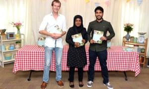 Ian Cumming, Nadiya Hussain and Tamal Ray attend a book signing