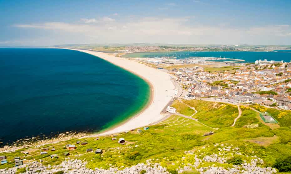 Chesil beach Portland, Dorset, UK.
