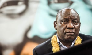 The South African president, Cyril Ramaphosa