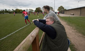 John Stancombe on the sidelines as Sandbach United take on Stockport Town in the North-West Counties league first division.