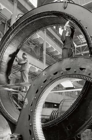 Hydro power generator stands, Siemens-Schuckert, Berlin, 1936Not one to limit his subject matter, Wolff made portraits, landscapes, and still lifes. He took photographs and continued to publish books on his use of the Leica camera until his death