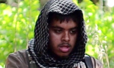 Screengrab of Reyaad Khan in an online video entitled There is no life without Jihad from an undisclosed location.