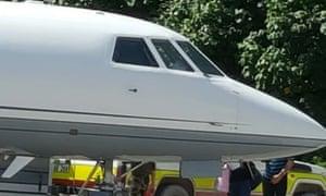 A plane at Nauru airport