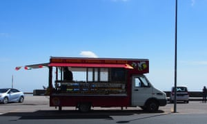 Meals on wheels: a van selling local delicacies such as pistachio cream and honey.