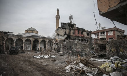 The aftermath of an operation by Turkish Security Forces against the PKK in Turkey's south-eastern province Diyarbakir's Sur District on January 21, 2016.