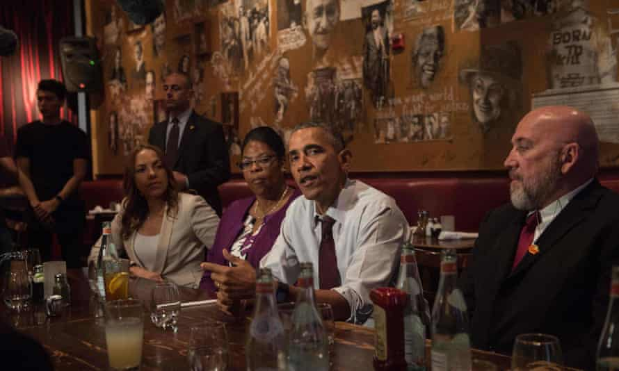 On 30 March 2016, Barack Obama meets with formerly incarcerated individuals who have previously received commutations.