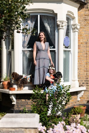Jade, Esme (with dogs, Winnifred and Rogan), from number 51.