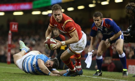 Liam Williams of Wales against Argentina