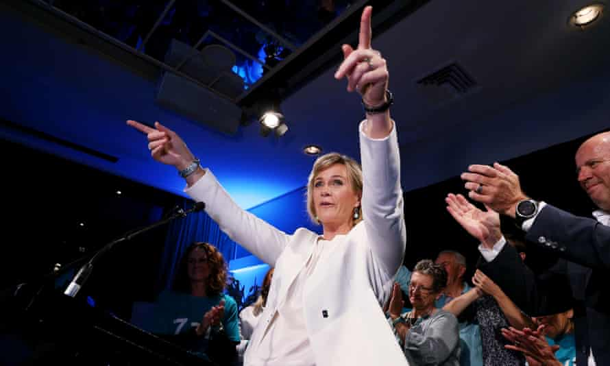 Independent candidate for Warringah Zali Steggall celebrates her win at the federal election in May 2019. The success of Steggall and other independents has inspired a crop of other independents, mainly in regional areas for the next federal election.