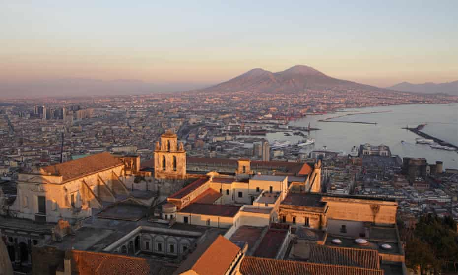 View of the Gulf of Naples and Vesuvius volcano