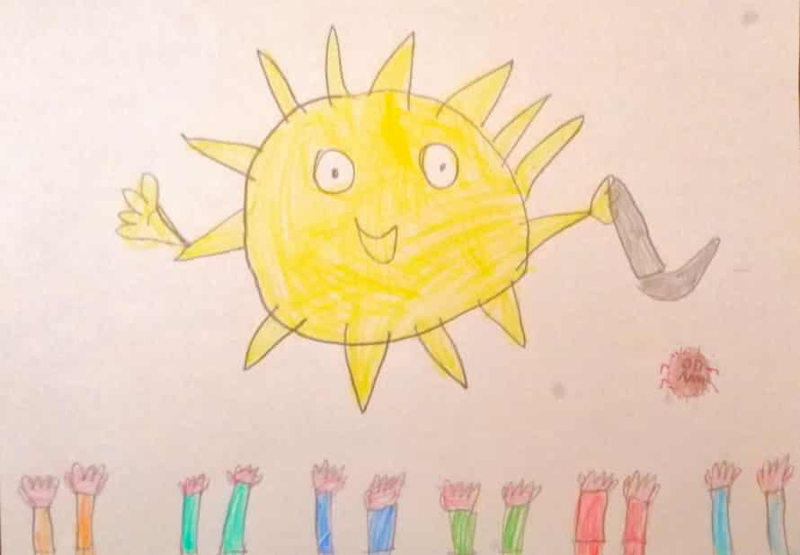 Michele's drawing of the sun