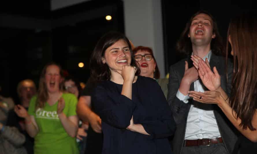 Chloe Swarbrick of the Green party, one of the many new women MPs in New Zealand.