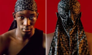 One of the durags from Telfar's new luxury range.