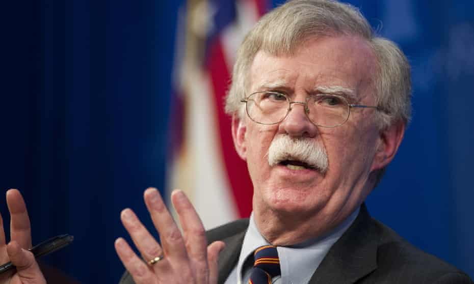 FILE - In this Dec. 13, 2018 file photo, national security adviser John Bolton unveils the Trump Administration's Africa Strategy at the Heritage Foundation in Washington. (AP Photo/Cliff Owen, File)