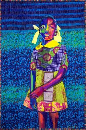 The Princess by textile artist Bisa Butler.