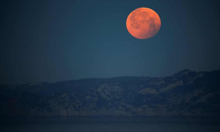 A super blood moon in Marseille, France, 2019. You can look at this year's May 2021 full supermoon and total lunar eclipse on Wednesday in Australia, over all of Oceania, most of south-east Asia and the Americas.