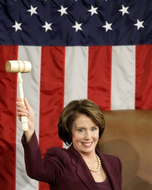 Nancy Pelosi became the first woman to wield the speaker's gavel in 2007.