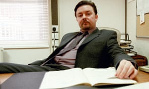 Ricky Gervais plays David Brent, a smug, lower middle manager in television series The Office based in Slough
