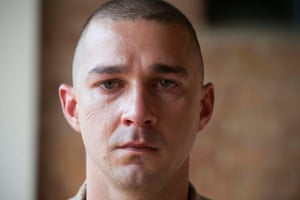 Tearing up … Shia LaBeouf gets weepy in Man Down.