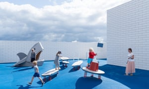 Shark warning … the terraces have been turned into playgrounds.