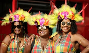 Costumed revellers at 2018's Notting Hill carnival