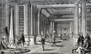 The library of the Reform Club in the 19th century.