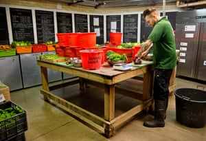 Steve Goodwin prepares the food