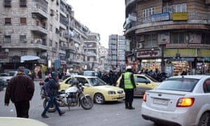 An area of Aleppo not destroyed by the bombing