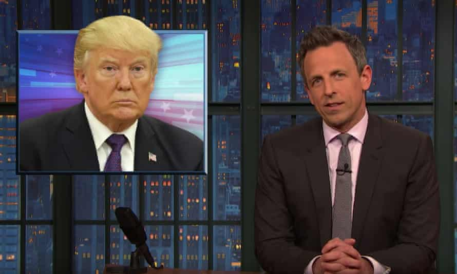 "Seth Meyers on Donald Trump: ""Why does the president always sound like a spam email asking you for your social security number?"""