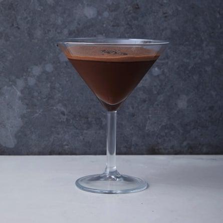 A no-alcohol chocolate espresso martini.