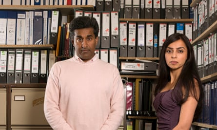 Dr Raj Mattu and his wife Sangeeta at home in Warwick, surrounded by the files connected to his case.