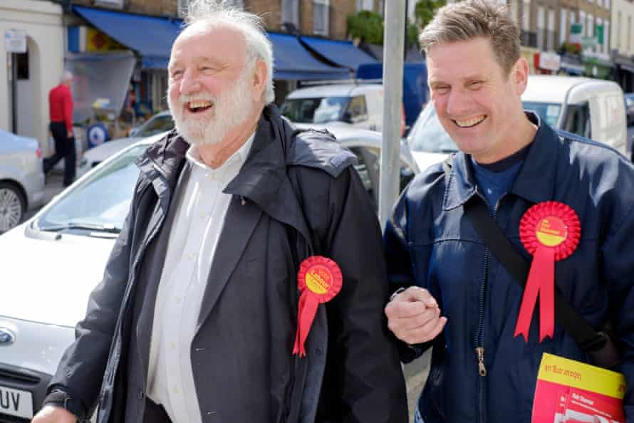 With Frank Dobson, canvassing during the 2015 election campaign.