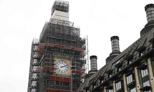 Big Ben shrouded in scaffolding. 'There will have been shudders down a few spines on Monday night at the thought of how easily something equally catastrophic could have happened here.'