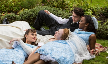 (from left) Ella Purnell, Eleanor Tomlinson, Anthony Boyle and Crystal Clarke in Ordeal By Innocence.