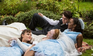 'Deceptive idyll: Ella Purnell, Eleanor Tomlinson, Anthony Boyle and Crystal Clarke in Ordeal by Innocence.