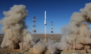 A Russian Proton-M rocket launches
