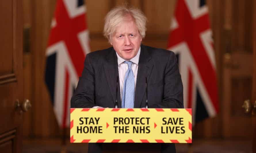 Boris Johnson at No 10 briefing