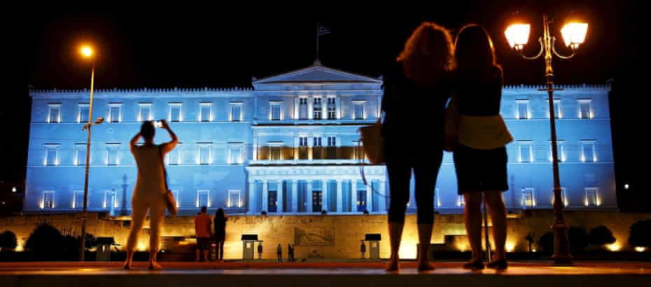 Athens' numberous neo-classical buildings, such as the Old Royal Palace that houses the Greek parliament, are a legacy of big donors shaping urban spaces.