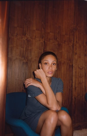 Adwoa Aboah in Alexa Chung's polka dot dress, from Archive Marks and Spencer collection.