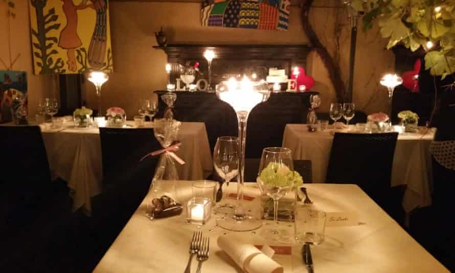 Dining area at La Pergoletta, Pisa, Italy.