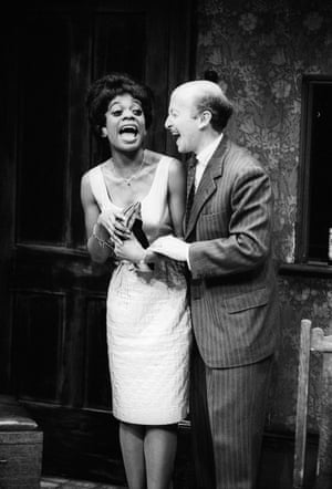 The Birthday Party Peter Whitman (Goldberg) and Cecilia Noble (Lulu) directed by Nancy Meckler. The Place theatre, London, 1990.