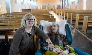 Marie Jentner with her husband Siegfried who was dying of testicular cancer.