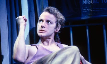 Brent Carver as Molina in Kiss of the Spiderwoman at Shaftesbury theatre, London, in 1992. He became 'an expressive conduit, a waterfall, through whom the whole musical poured'.