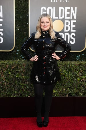 Co-host Amy Poehler attends the Golden Globe Awards held at the Beverly Hilton in California.