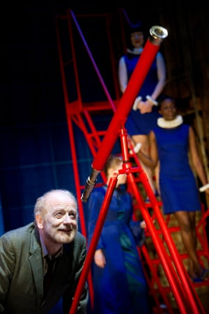 A Life of Galileo, 2013. Directed by Roxana Silbert, designed by Tom Scutt. The photograph shows Galileo (Ian McDiarmid).